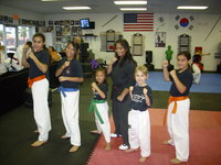 Some of the girls of the karate school